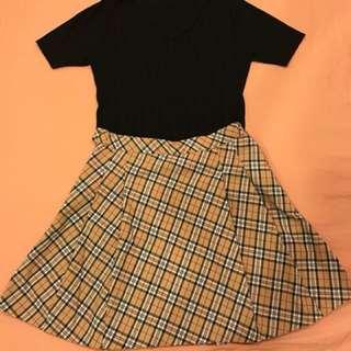 🚚 學院風格紋短裙