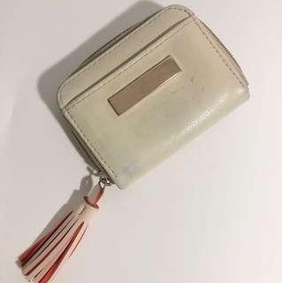 Beige Card Holder/ Coin Purse