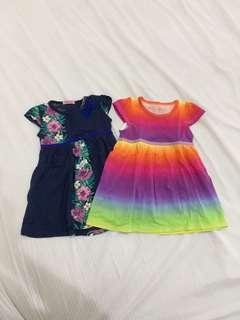 Daster / dress bayi bahan adem 12-18m