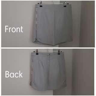 Sportsgirl Grey Leather Look Skirt