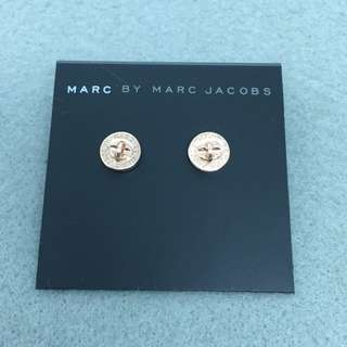 Marc Jacobs Sample Earrings 玫瑰金色扣子耳環