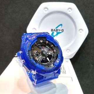 * FREE DELIVERY * Brand New 100% Authentic Casio BabyG Blue Jelly Baby G Ladies Watch Baby-G BA110CR 2 BA110CR-2ADR