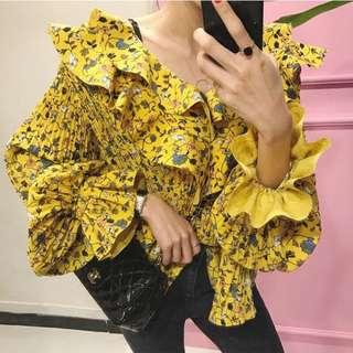 Korean yellow top free size
