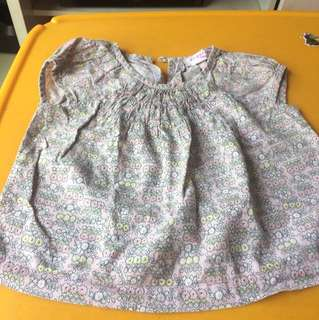 Gingersnap flower shirt 6-12m