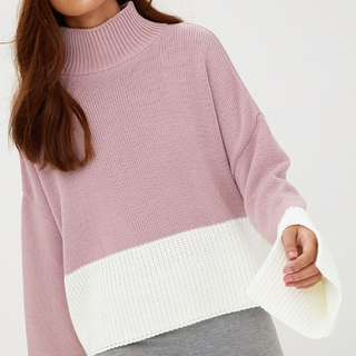 PLT Blush Funnel Neck Jumper | Size 6