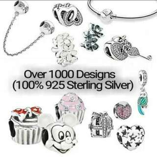 Over 1000 Designs (925 Sterling Silver Charms) To Choose From, Compatible With Pandora, T10