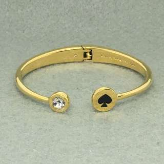 Kate Spade New York Sample Bangle 黑色配金色手額 鈪 手環