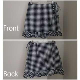 Subtitled Wrap Skirt