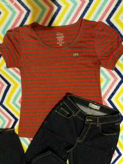 Lacoste Striped Blouse