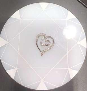 MaBelle 鑽石吊咀 18K,21份,心型