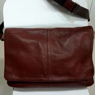 Original COACH Men's Leather Messenger Bag