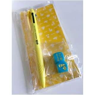 Hobonichi 2018 Supplement (Yellow 3-color ballpoint pen + Meal Decider Dice)
