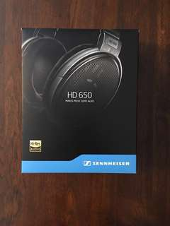 Sennheiser HD 650 Reference Headphones with Periapt XLR cable