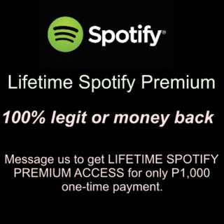 Lifetime Spotify Premium