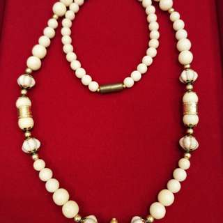 BEAUTIFUL BEADS NECKLACE WITH MICRON GOLD LONGYA PARTS (WITH SCREW ON/OFF CATCH)