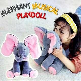 ELEPHANT MUSICAL PLAYDOLL