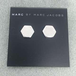 Marc Jacobs Sample Earrings 六角形銀色耳環