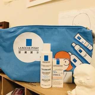 ☀︎理膚寶水 術後包 (附贈 多容安舒緩化妝水50mL & 防曬BB霜自然色3mL) 可當旅行包、化妝包用