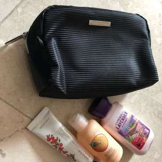 Giorgio Armani Parfums Pouch with free lotions