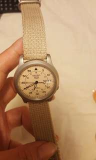 Seiko watch canvas strap