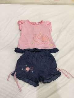 Set baju bayi 12-18m