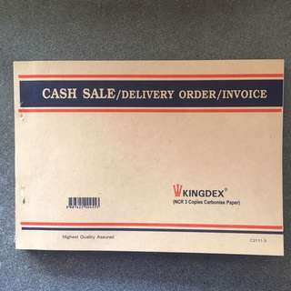 CASH SALE/DO/INVOICE Book 3-ply