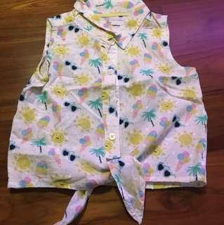 M&S sleeveless girl shirt