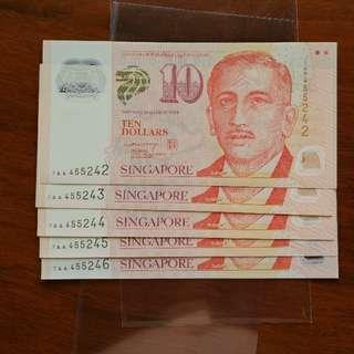 Sg $10 LHL 7AA 5run