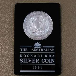 Australian 1991silver coin澳洲銀幣