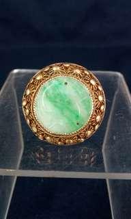 清代 - 翡翠鑲嵌silver戒指