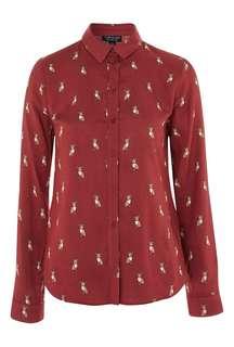 Topshop chi hua hua print long sleeve shirt