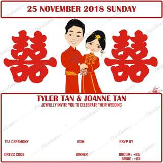 Customised Wedding Illustration - Prints