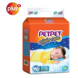 SHOCKING DEAL : PetPet Night Tape Mega Pack Diapers x 3 pack (L50/XL44)