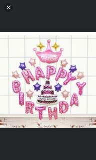 Happy Birthday Balloon, 4 designs