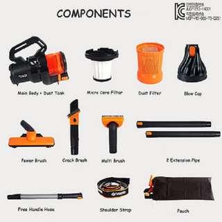 Vacum Cleaner Hand Bag Orange Daya Hisap Kuat Mudah Di Gunakan