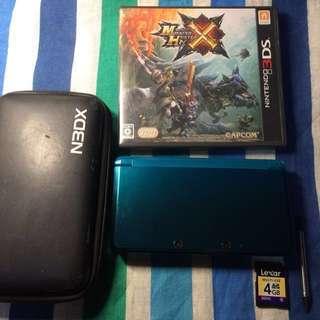 Japan Region Old 3DS Regular with Monster Hunter X (Cross)