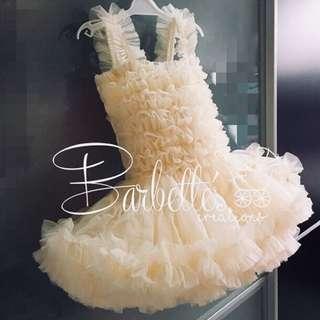 Baby tutu dress - Cream