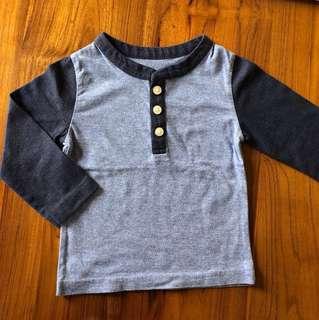 美國PLACE童裝 亨利衣 單排釦長袖上衣 薄長袖