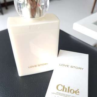 Chloe perfumed body lotion, love story