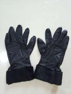 Leather Gloves Sarung Tangan Kulit Bulu2 fashionable stylish