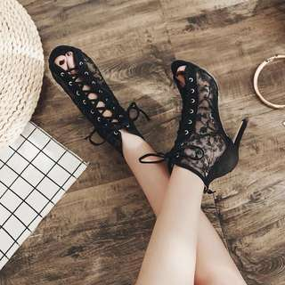 Size 35-40 Lace Up Peep Toes Gladiators High Heels