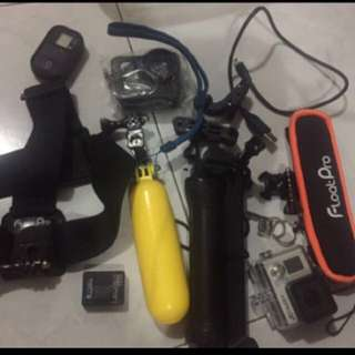 Gopro Hero 3+ silver with accesories