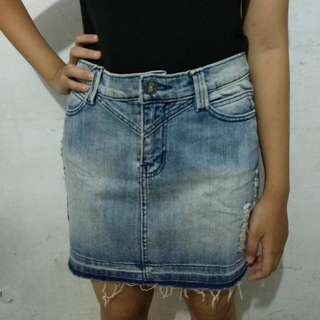 Mini skirt ripped *freeongkir