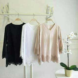 MAYA lace top Price : $25.50 with complimentary normal mailing