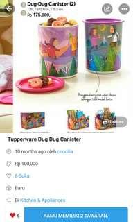 Tuperware Dug Dug Canister