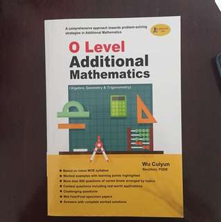 o'level additional math book