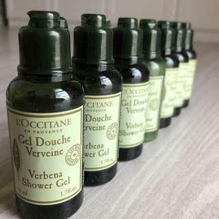 Loccitane Verbena Shower Gel Travel Set 50ml x 5