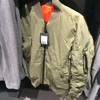 Nike ma1 雙面穿外套 軍綠