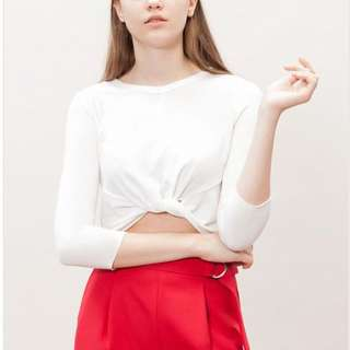 Stradivarius knotted top
