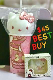 Hello Kitty EZlink Charm and Tumbler Set